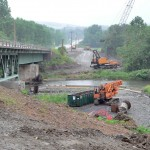 Hoosick Bridge Construction In The Rain