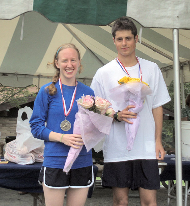 First place Run for the Roses winners Joel Frost-Tift and Laura McCoy. Photo courtesy of Liz Wagner.