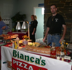 Bianca's was one of the many restaurants to have a variety of foods to sample at the Taste of Hoosick on Sunday. (Bea Peterson photo)