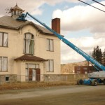Demolition Of The Union Free School Building Begins; Bell Tower To Be Saved