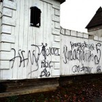 Spray Paint Spoils Castle Walls