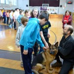 Dogs Visit St. Mary's Academy