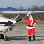 Santa Flies In