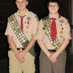 Hall And Zlotnick  Become Eagle Scouts