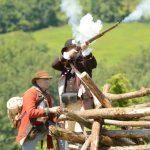 Reenactment Held At Bennington Battlefield