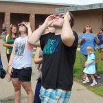 Checking Out The Solar Eclipse At Berlin High School